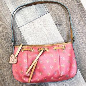Dooney & Bourke Vintage Pink Genuine Leather Purse